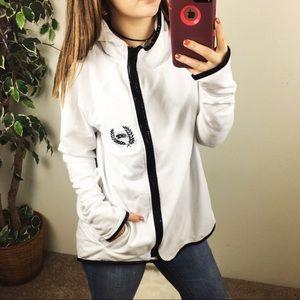 PINK Victoria's Secret white zip up jacket